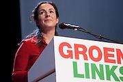 Femke Halsema wordt op de 28e partijcongres van GroenLinks in Vredenburg Leidsche Rijn in Utrecht opnieuw gekozen als lijsttrekker van de partij. <br /> <br /> At the congress Femke Halsema is chosen as party leader of GroenLinks.