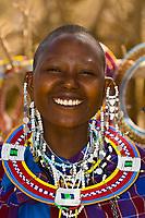Maasai woman, Manyatta village, Ngorongoro Conservation Area, Tanzania