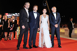 Javier Bardem, Penelope Cruz, Fernando Leon de Aranoa and Alberto Barbera attending the Loving Pablo Premiere during the 74th Venice International Film Festival (Mostra di Venezia) at the Lido, Venice, Italy on September 06, 2017. Photo by Aurore Marechal/ABACAPRESS.COM
