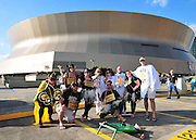 "The New Orleans Saints fans dress up as ""Boo Dat's and Who Dat's Fairy's for Halloween in hopes of beating the Pittsburgh Steelers at the SuperDome Sunday Oct. 31,2010. The Guiness Book of World Records is attempting to set a record for the most people in costume at the Super Dome on Halloween.The Saints play the Pittsburgh Steelers in prime time on NBC in New Orleans at the SuperDome in Louisiana on Halloween Oct.31 2010. Big Ben Roethlisberger of the Pittsburg Steelers arrives at  the SuperDome in New Orleans on Halloween night to play the New Orleans Saints.Photo©SuziAltman."