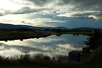 Riverton, New Zealand- April 29, 2019 - Dusk over the Aparima River near the town of Riverton. Picture: Giordano Stolley