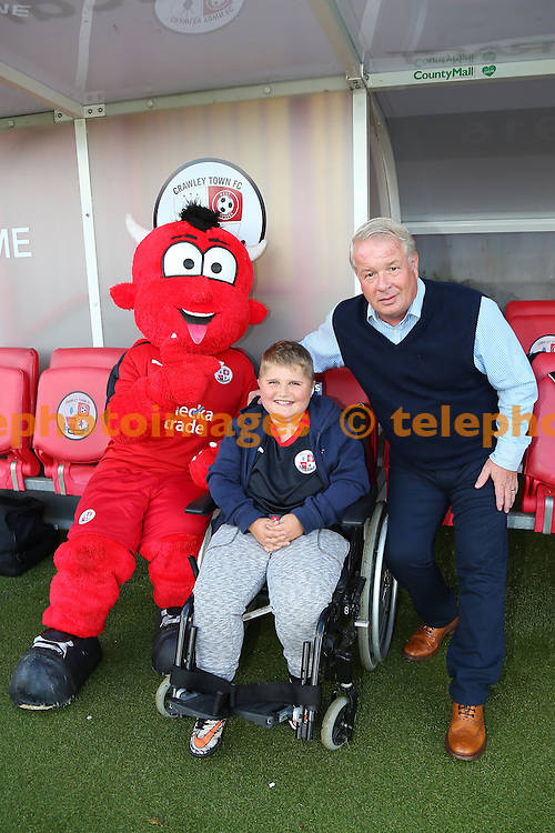 Match day Mascot during the Sky Bet League 2 match between Crawley Town and Blackpool at the Checkatrade Stadium in Crawley. October 1, 2016.<br /> James Boardman / Telephoto Images<br /> +44 7967 642437