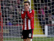 Stefan Scougall of Sheffield United during the English Football League One match at Bramall Lane, Sheffield. Picture date: December 31st, 2016. Pic Jamie Tyerman/Sportimage