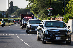 A cavalcade of vehicles led by the two Cadillacs known as the Beast leaves Windsor Castle following President Biden's visit on 13th June 2021 in Windsor, United Kingdom. President Biden and First Lady Jill Biden were welcomed at Windsor Castle by the Queen following the G7 summit with a Guard of Honour followed by afternoon tea.
