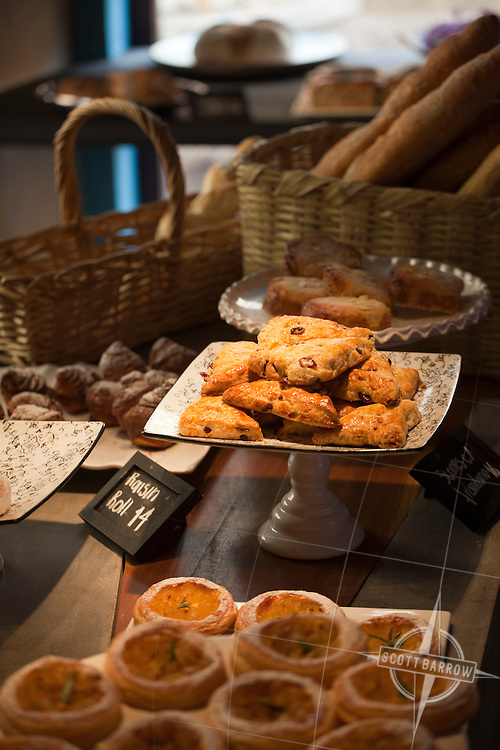 Pastries and other baked goods in a pastry shop in San Miguel, Mexico