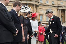 May 16, 2017 - London, London, United Kingdom - Image licensed to i-Images Picture Agency. 16/05/2017. London, United Kingdom. The Duke of Edinburgh at a Garden party at Buckingham Palace in London.  Picture by ROTA  / i-Images UK OUT FOR 28 DAYS (Credit Image: © Rota/i-Images via ZUMA Press)