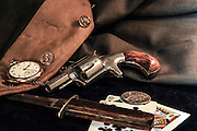 Hopkins Allen .38 caliber pocket revolver.
