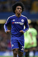 Willian of Chelsea looks on. The Emirates FA Cup, 5th round match, Chelsea v Manchester city at Stamford Bridge in London on Sunday 21st Feb 2016.<br /> pic by John Patrick Fletcher, Andrew Orchard sports photography.