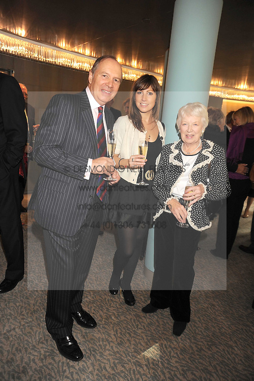 Left to right, Actor CHARLES COLLINGWOOD, his daughter actress JANE COLLINGWOOD and actress JUNE WHITFIELD at a tribute lunch in honour of Michael Aspel hosted by The Lady Taverners at The Dorchester, Park Lane, London on 14th November 2008.