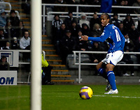 Photo: Jed Wee/Sportsbeat Images.<br /> Newcastle United v Birmingham City. The FA Barclays Premiership. 08/12/2007.<br /> <br /> Birmingham's Cameron Jerome strokes the ball into the empty net after rounding Newcastle goalkeeper Shay Given.