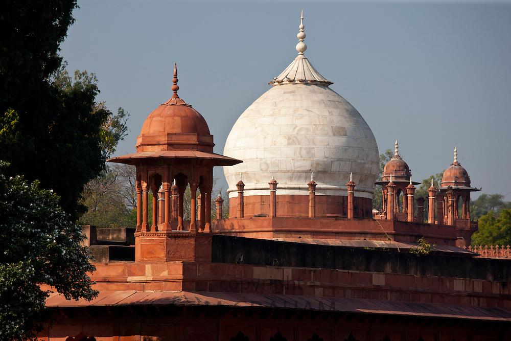 Tombs of Maids of Honour, part of The Taj Mahal complex in Uttar Pradesh, India
