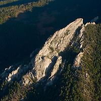 Frog Rock rises near Bozeman Pass in the southern Gallatin Range of Montana's Rocky Mountains.