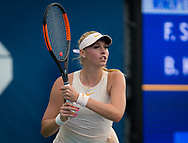 Fanny Stollar of Hungary in action during the first qualification round at the 2018 US Open Grand Slam tennis tournament, New York, USA, August 22th 2018, Photo Rob Prange / SpainProSportsImages / DPPI / ProSportsImages / DPPI