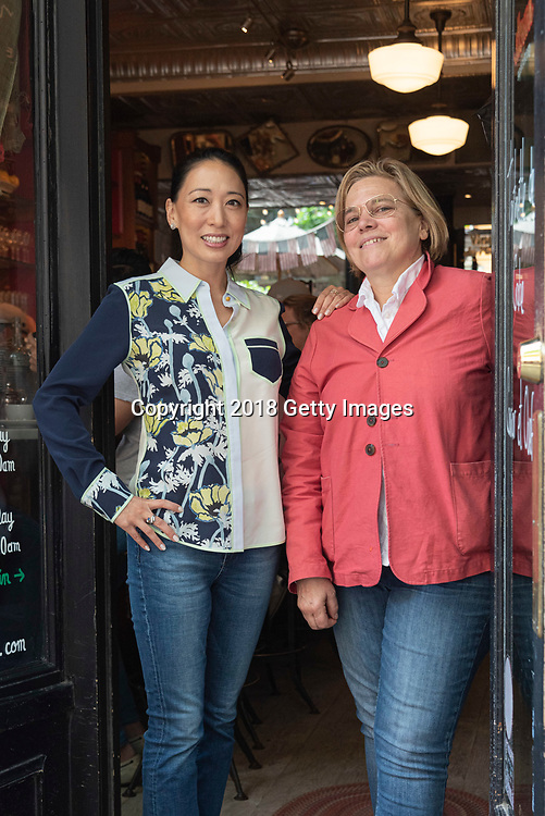 NEW YORK- JUNE 3:  Chefs Jody Williams and Judy Joo pose for a portrait at Buvette on June 3rd, 2019 in New York City. (Photo by Kris Connor/Getty Images for OK! Magazine)