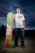 Snowboarder Kenny Lindstrom.