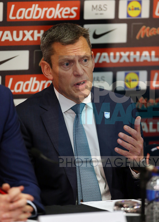 England's Chief Executive Martin Glenn looks on during the press conference at Wembley Stadium, London. Picture date December 1st, 2016 Pic David Klein/Sportimage