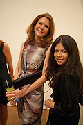 KIM ROBSON-ORTIS; JACKIE MARTIN, THE LAUNCH OF THE KRUG HAPPINESS EXHIBITION AT THE ROYAL ACADEMY, London. 12 December 2011.