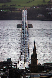 The Tay Road Bridge from The Law,  Dundee.