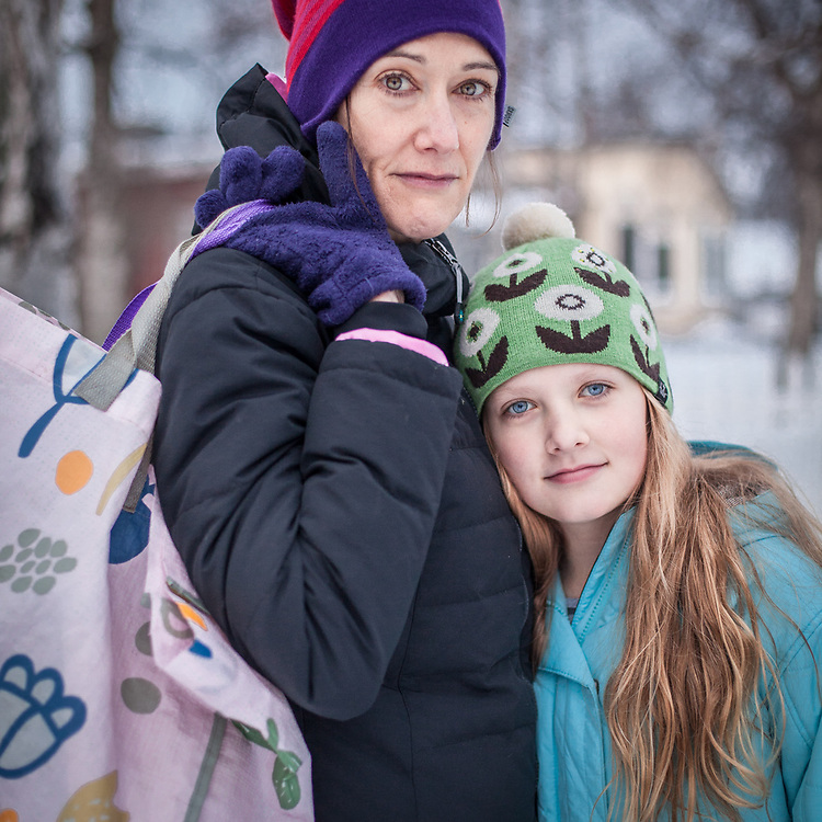 Patty Mcloughlin and daughter, Raquelle, in Anchorage's South Addition neighborhood  patty99501@gmail.com