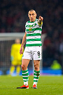 Scott Brown (#8) of Celtic issues instructions during the Betfred Cup Final between Celtic and Aberdeen at Celtic Park, Glasgow, Scotland on 2 December 2018.