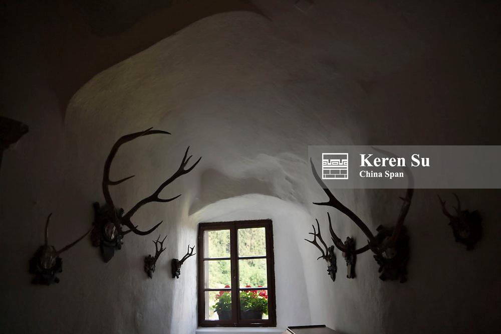 Inside Predjama Castle, Postojna, Slovenia