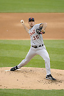 CHICAGO - JUNE 04:  Justin Verlander #35 of the Detroit Tigers pitches against the Chicago White Sox on June 4, 2011 at U.S. Cellular Field in Chicago, Illinois.  The Tigers defeated the White Sox 4-2.  (Photo by Ron Vesely)  Subject:   Justin Verlander