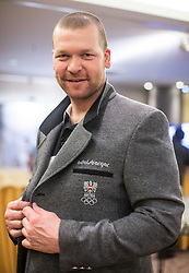 28.01.2014,  Marriott, Wien, AUT, Sochi 2014, Einkleidung OeOC, im Bild Klaus Kröll (Ski Alpin, AUT) // Klaus Kröll (Ski Alpine, AUT) during the outfitting of the Austrian National Olympic Committee for Sochi 2014 at the  Marriott in Vienna, Austria on 2014/01/28. EXPA Pictures © 2014, PhotoCredit: EXPA/ JFK