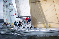 RWYC's Savills Kip Regatta  9-10th May 2015 <br /> Excellent conditions for the opening racing of the Clyde Season<br /> <br /> Class 4's GBR9963, First by Farr, Ian McNair<br /> <br /> Credit : Marc Turner / PFM
