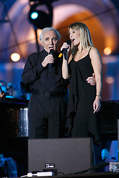 Singer Charles Aznavour live in concert with daughter Katia in Yerevan, Armenia, September 30, 2006. Photo by Thierry Orban/ABACAPRESS.COM