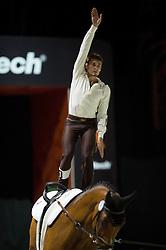 Adam Lukac, (SVK), Landar, Petra Cinerova - Individuals Mens Technical Vaulting - Alltech FEI World Equestrian Games™ 2014 - Normandy, France.<br /> © Hippo Foto Team - Jon Stroud<br /> 04/09/2014