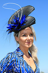 Caitlin Horn arriving during day three of the Qatar Goodwood Festival at Goodwood Racecourse, Chichester.