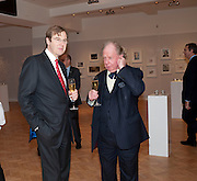 ROBERT BROOKS; GAVIN HENDERSON, Bonhams Auction house hosts festive drinks to preview the first phase of the reconstruction of its Mayfair Headquarters - due for completion in 2013.<br /> Bonhams, 101 New Bond Street, London, 19 December 2011.