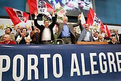 O pré-candidato, José Fortunati e oseu vice, Sebastião Melo participam da convenção do PDT, na Câmara Municipal de Porto Alegre. FOTO: Jefferson Bernardes/Preview.com