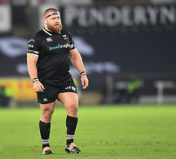 Ospreys' Dimitri Arhip in action today<br /> <br /> Photographer Mike Jones/Replay Images<br /> <br /> Guinness PRO14 Round Round 16 - Ospreys v Cheetahs - Saturday 24th February 2018 - Liberty Stadium - Swansea<br /> <br /> World Copyright © Replay Images . All rights reserved. info@replayimages.co.uk - http://replayimages.co.uk