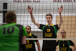 13-04-2019 NED: Prima Donna Kaas Huizen - Spaarnestad , Huizen<br /> Huizen win the match 3-2 and is the champion of the second division C / Julian van Dijk #10 of PDK Huizen