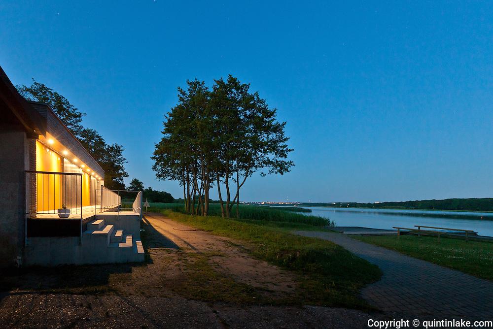 New Clubhouse, opened in 2010, for Aarhus Rowing Club (Århus Roklub klubhus), by Braband Lake Aarhus, Denmark.