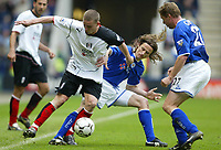 Fotball<br /> Premier League 2004<br /> 10.03.2004<br /> Leicester v Fulham<br /> NORWAY ONLY<br /> <br /> FULHAM'S SEAN DAVIES AND LILIAN NAILS