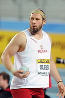 ATHLETICS - WORLD CHAMPIONSHIPS INDOOR 2012 - ISTANBUL (TUR) 09 to 11/03/2012 - PHOTO : STEPHANE KEMPINAIRE / KMSP / DPPI - <br /> SHOT PUT - MEN - FINALE - BRONZE MEDALE - TOMASZ MAJEWSKI (POL)