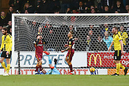 Bradford City have a goal ruled out during the EFL Sky Bet League 1 match between Burton Albion and Bradford City at the Pirelli Stadium, Burton upon Trent, England on 26 January 2019.
