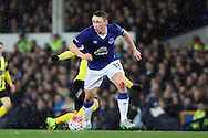 Matthew Pennington of Everton in action. The Emirates FA cup, 3rd round match, Everton v Dagenham & Redbridge at Goodison Park in Liverpool on Saturday 9th January 2016.<br /> pic by Chris Stading, Andrew Orchard sports photography.