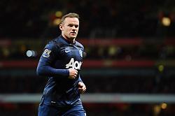 Man Utd Forward Wayne Rooney (ENG) looks on - Photo mandatory by-line: Rogan Thomson/JMP - 07966 386802 - 12/02/14 - SPORT - FOOTBALL - Emirates Stadium, London - Arsenal v Manchester United - Barclays Premier League.