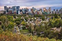 Sunnyside Neighborhood & Calgary Skyline