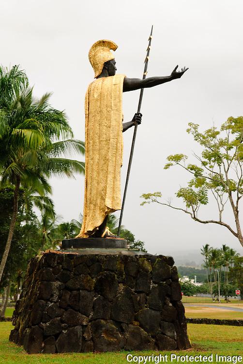 King Kamehameha statue on the Big Island of Hawaii.
