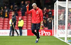 Crystal Palace goalkeeper Vicente Guaita warms up before the FA Cup quarter final match at Vicarage Road, Watford.
