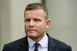 © Licensed to London News Pictures. 14/03/2017. London, UK. GORDON Ramsay's brother-in-law ADAM HUTCHESON leaves Westminster Magistrates Court in London where she and other members of her family faced charges relating to hacking in to the celebrity chefs computer. Hutcheson, 68, is accused of conspiracy to access Ramsay's PC after a fall-out when the TV cook fired him as chief executive of his business. Photo credit: Ben Cawthra/LNP