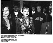 Juliet Hohnen & Madonna  at the Vanity Fair Oscar Night Party. ( Peter Beard in background. )  Mortons. Los Angeles.  24 March 1997<br />Copyright Photograph by Dafydd Jones<br />66 Stockwell Park Rd. London SW9 0DA<br />Tel 0171 733 0108