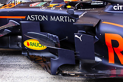 February 18, 2019 - Barcelona, Barcelona, Spain - Aston Martin Red Bull Racing - Honda RB15 aerodinamic detail of sidepod during the Formula 1 2019 Pre-Season Tests at Circuit de Barcelona - Catalunya in Montmelo, Spain on February 18, 2019. (Credit Image: © Xavier Bonilla/NurPhoto via ZUMA Press)