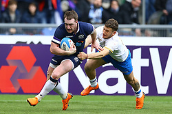 March 17, 2018 - Rome, Italy - Rugby NatWest 6 Nations: Italy v Scotland.Stuart Hogg of Scotland scores a try at Olimpico Stadium in Rome, Italy on March 17, 2017. (Credit Image: © Matteo Ciambelli/NurPhoto via ZUMA Press)