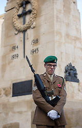 © Licensed to London News Pictures. 10/11/2019. Bristol, UK. Remembrance Day parade and wreath laying at the Cenotaph in Bristol city centre. Photo credit: Simon Chapman/LNP.