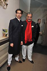 Left to right, Amin Jaffer and THE MAHARAJA GAJ SINGH I I OF MARWAR- JODHPUR at the Royal Rajasthan Gala 2009 benefiting the Indian Head Injury Foundation held at The Banqueting House, Whitehall, London on 9th November 2009.